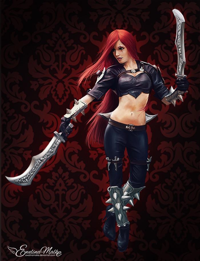 League Of Legends   Katarina by EwelinaMalke