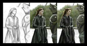 Catelyn Stark (Tully) by Tiearius