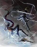 Armin and Mikasa by Tiearius