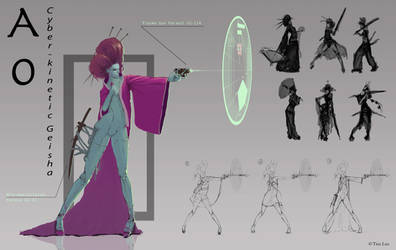 Post Apocalyptic Geisha concept by Tiearius