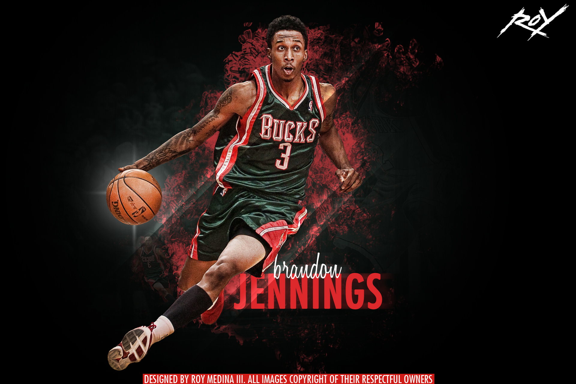 Brandon Jennings by Roy03x