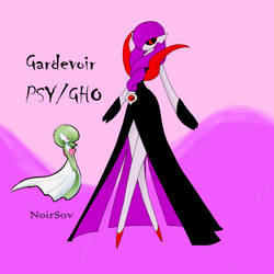 Gardevoir as a Ghost type by NoirSov