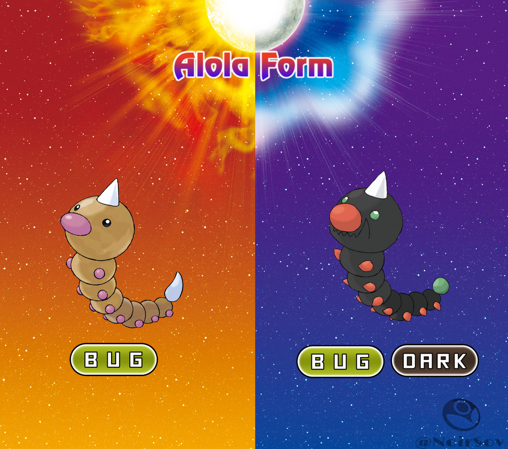 Weedle Alola Form by NoirSov on DeviantArt