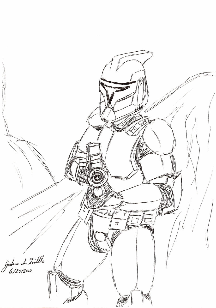 501st clone trooper coloring pages coloring pages for Clone trooper coloring pages
