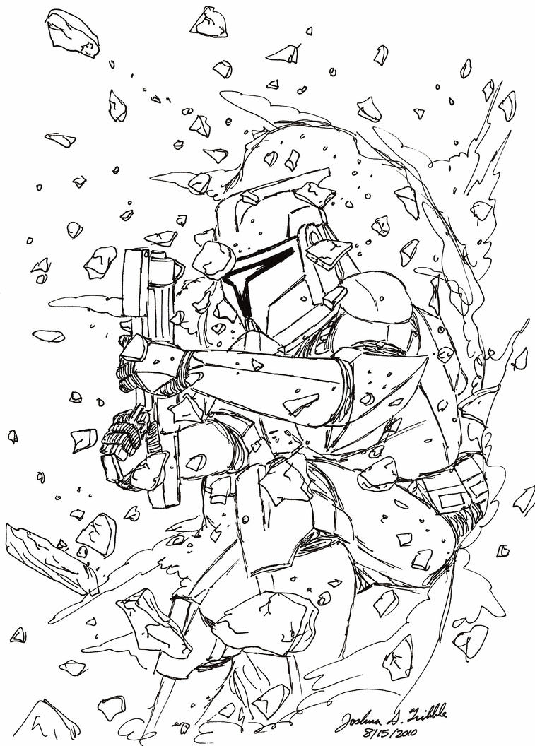 Clone trooper forced entry1 by tribble industries on for Clone trooper coloring pages