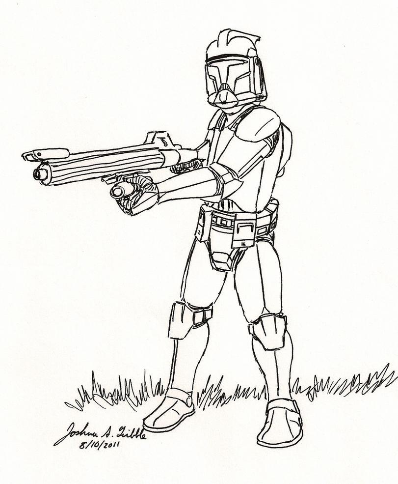 Clone Trooper Sketch 12 by Tribble-Industries on DeviantArt