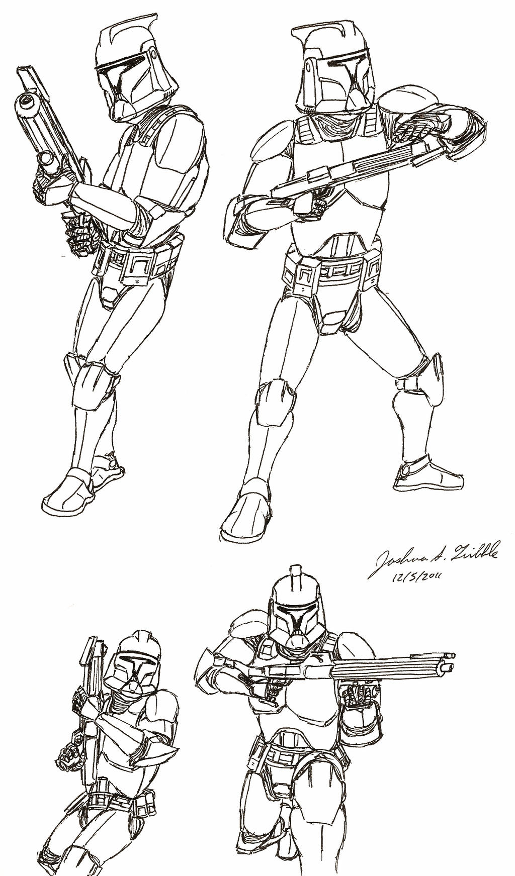 clone trooper sketches 2011 by tribble industries on deviantart