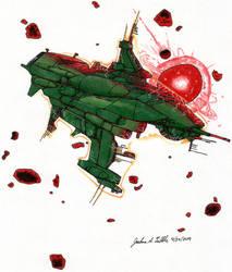 Starship Near an Angry Sun II