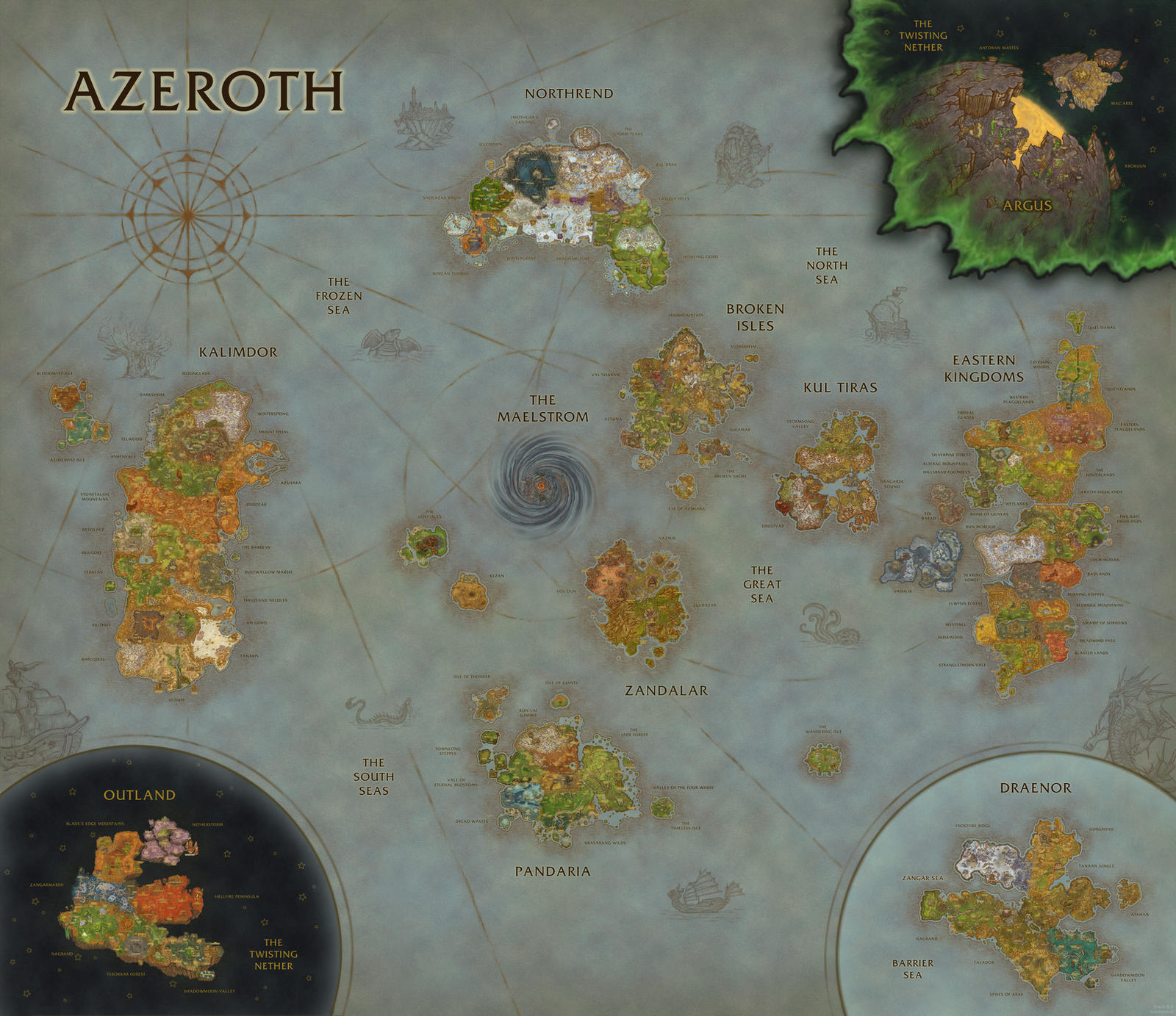 World of Warcraft Map Composition (BfA Update) by Sub