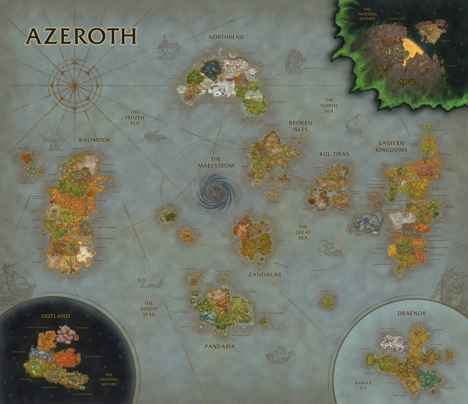 World of Warcraft Map Composition (BfA Update) by Sub-Thermal on ...