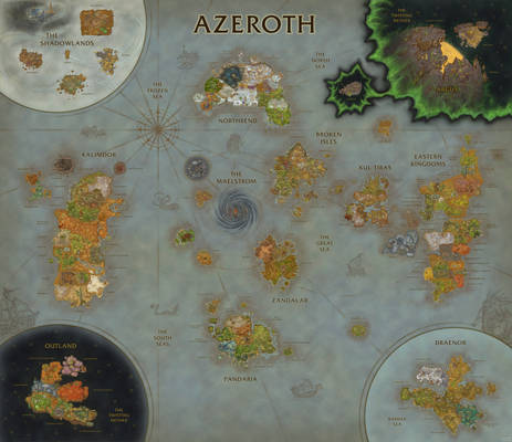 WoW Map Composition (Shadowlands Update)