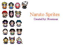 Naruto Sprites by Disneyfreak007