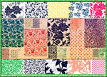 Floral Fabric Texture