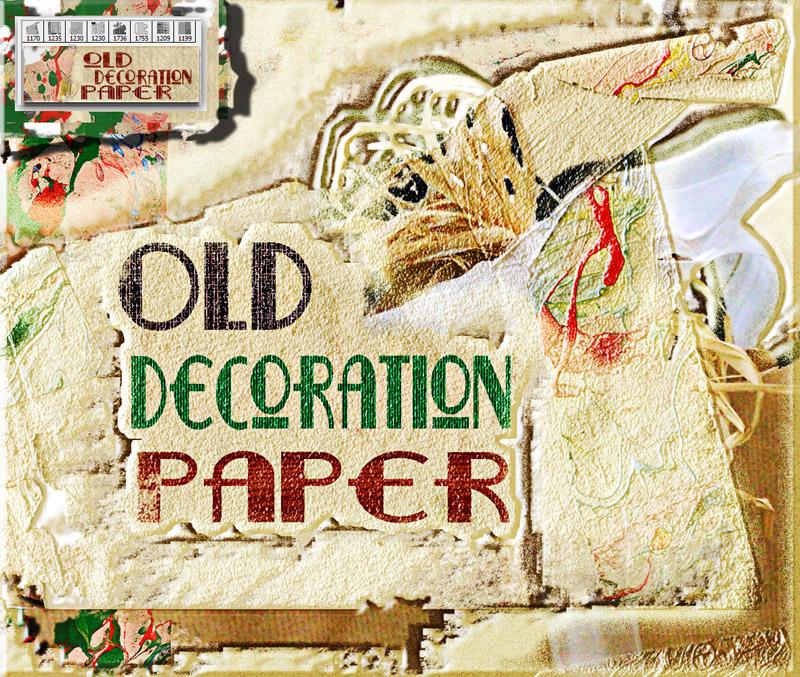 Old Decoration paper