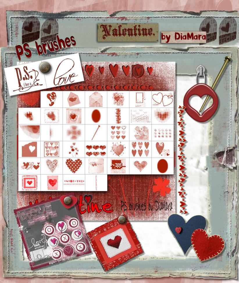 Valentine Mega Art Brush Set by Diamara