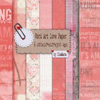 Word Art Love paper by Diamara