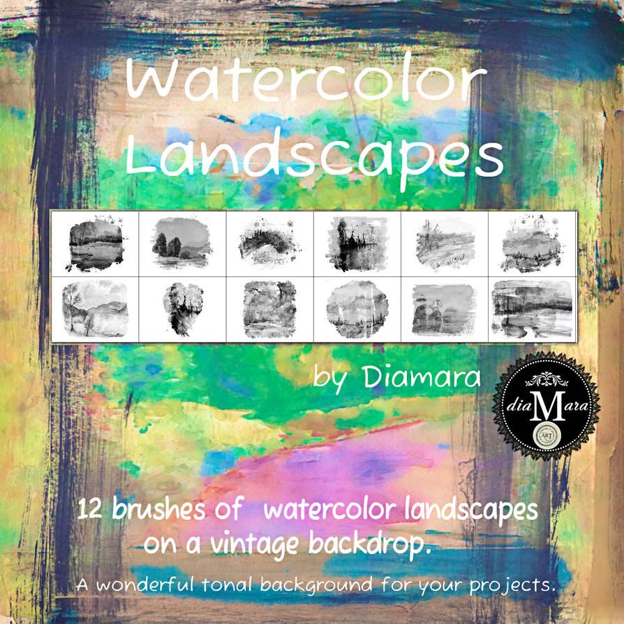 Watercolor Landscapes by Diamara