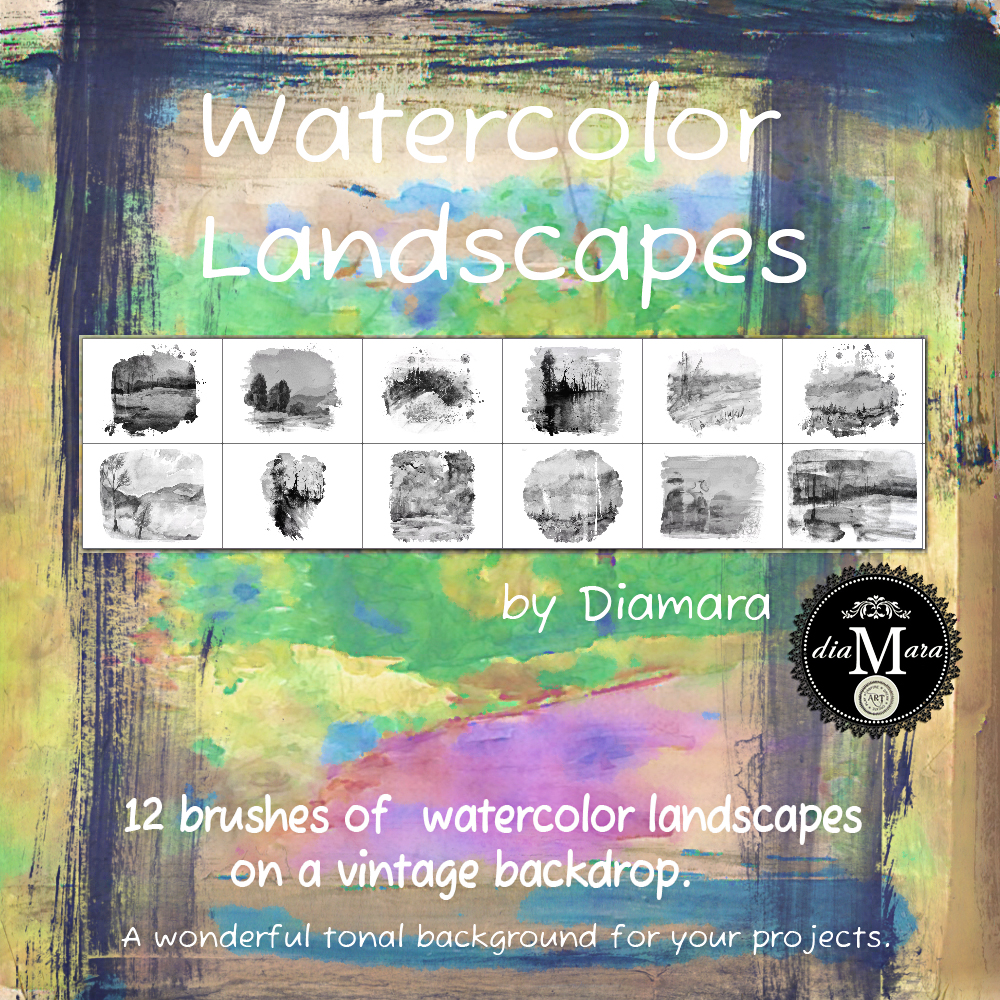 Watercolor Landscapes by Diamara