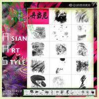 AsianArt Style BrushSet by Diamara