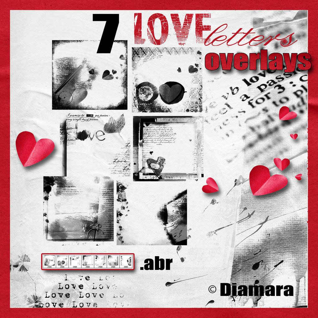 7 Love Letters Overlays by Diamara