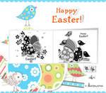 Happy Easter Stickers Freebie