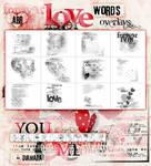 2013 Love WordsOverlays