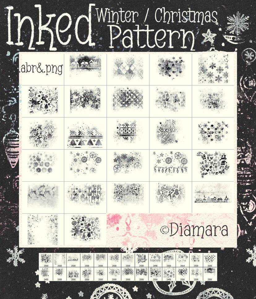Inked Winter/Christmas Pattern by Diamara