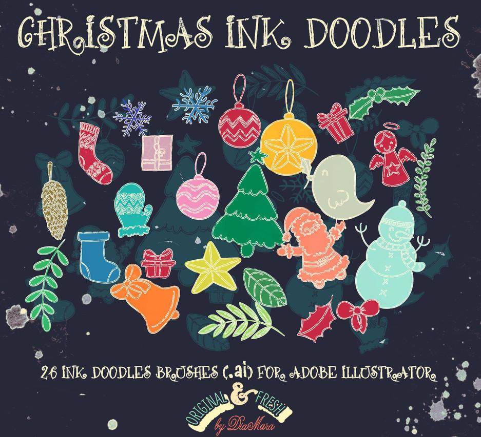 Christmas InkDoodles by Diamara