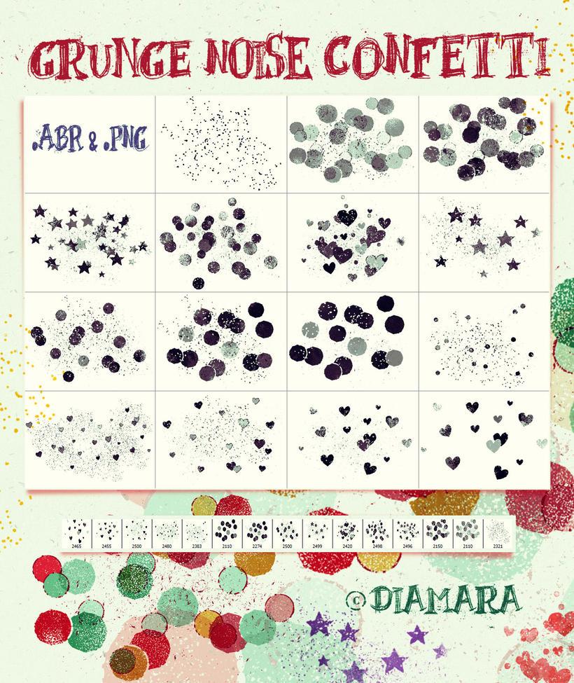 Grunge Noise Confetti by Diamara