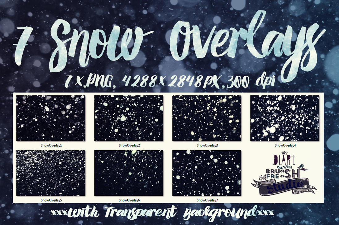 7 Snow Overlays by Diamara