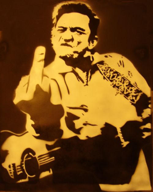 johnny cash by louuu