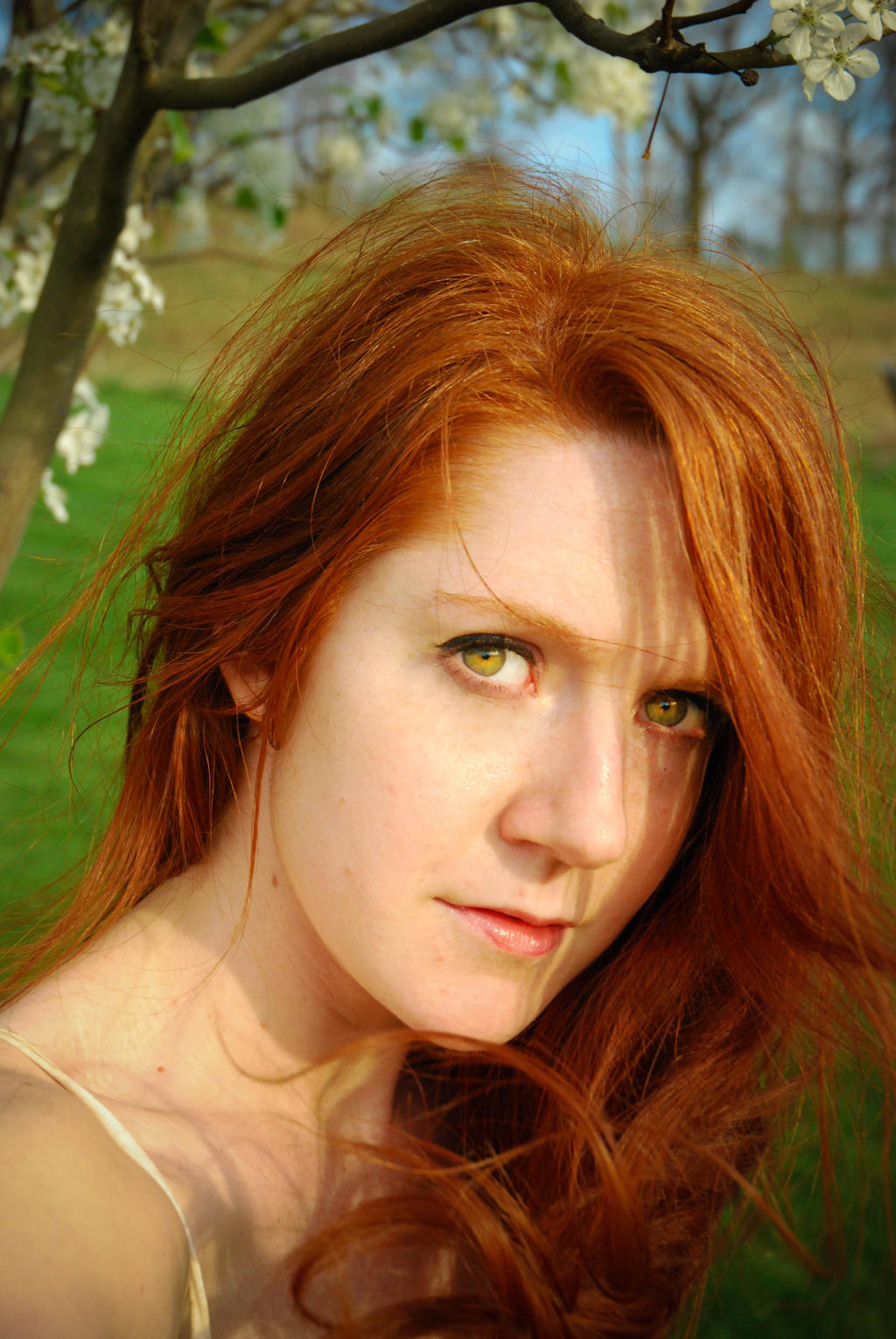 natural-angels  ... Windy Spring Day Natural Redhair by angelsfalldown1
