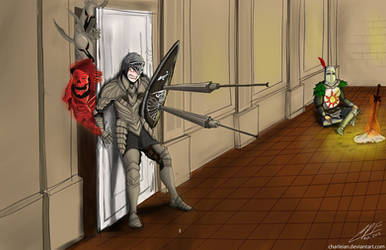 Dark Souls, Nino and Solaire 1 by Charleian