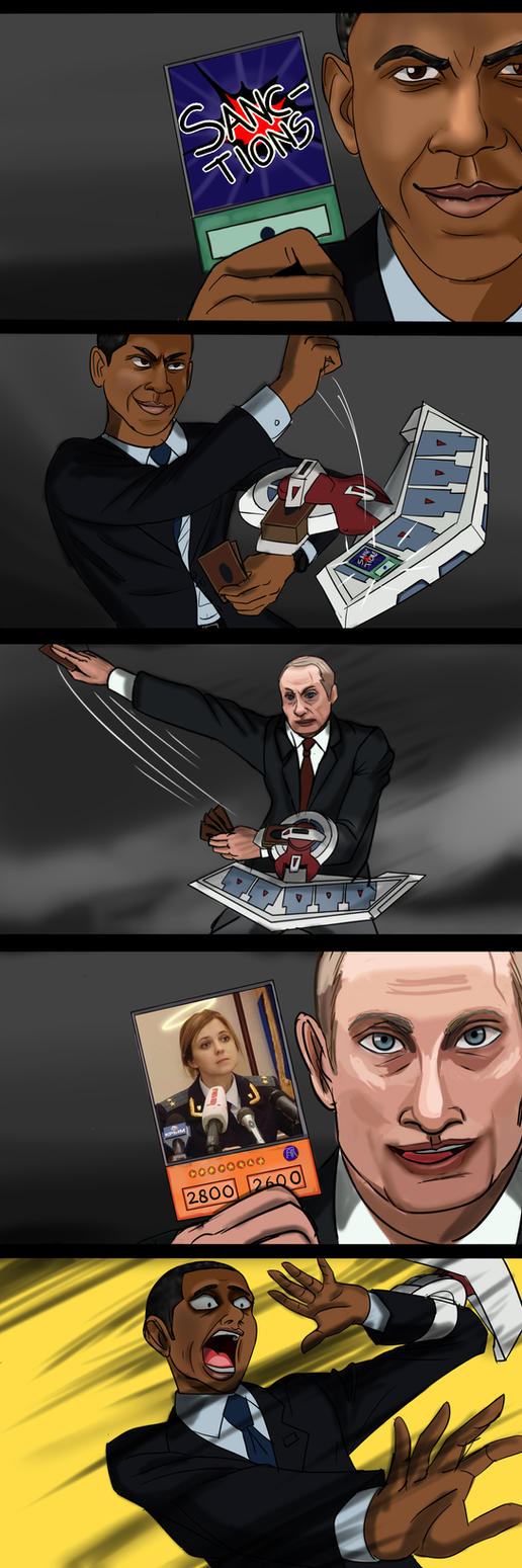 A DUEL between Obama and Putin by Charleian