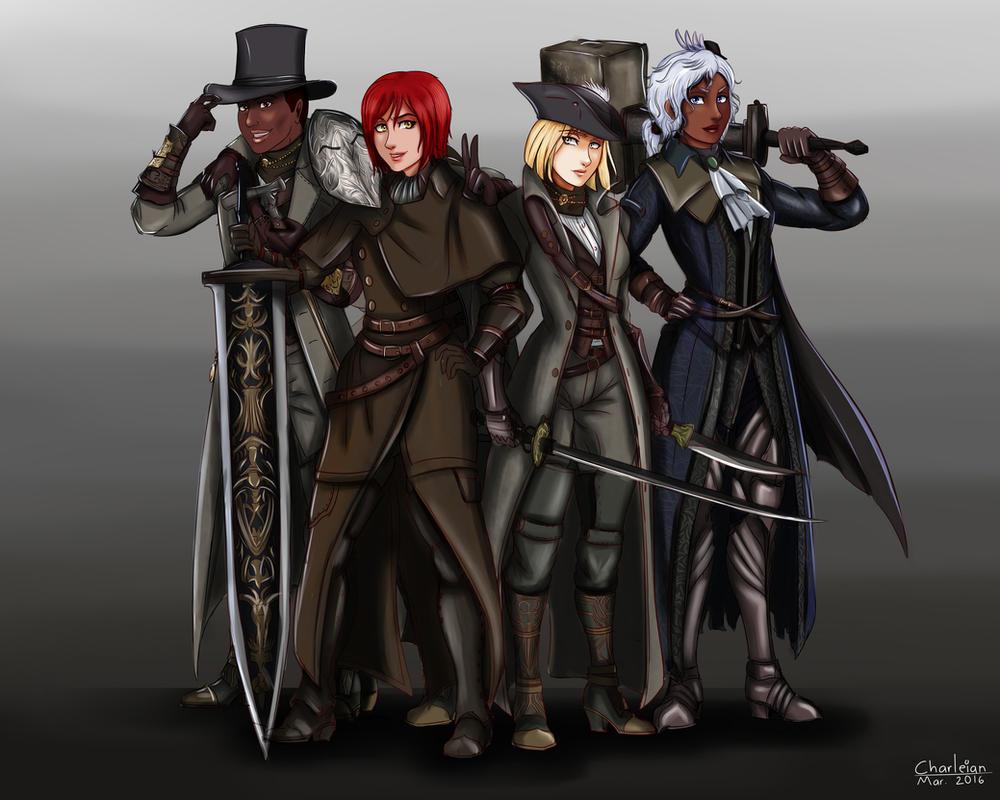 Bloodborne Hunters By Charleian On DeviantArt