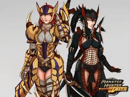 Monster Hunter Freedom Unite by Charleian