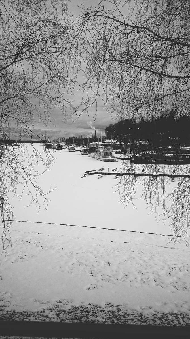 Monochrome lake by Hachidori25