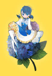 marinette, chinese style lolita dress and flower.