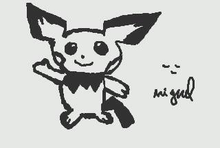 Pichu!!! Draw by MiguelAntoo