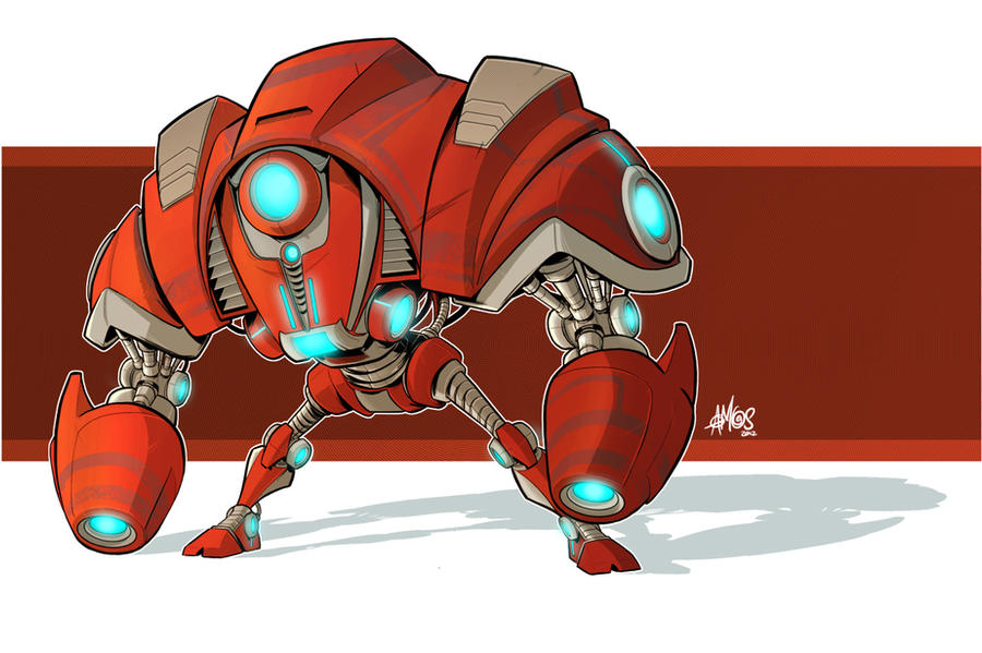Robo Attack Drone Color Version by VAMPDWARF