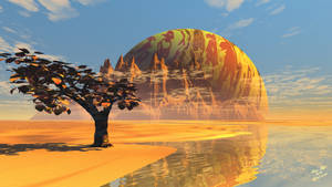 Alien Worlds - Planet-Rise at Lone Tree