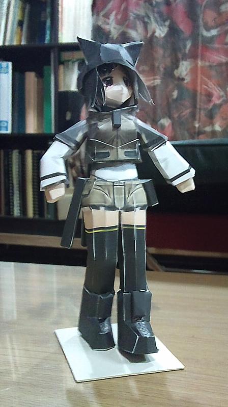 Naluri PaperCraft Figure by XenoAisam