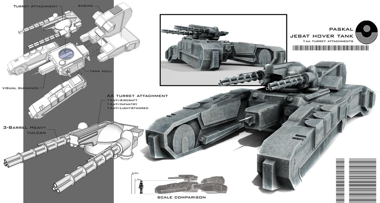 PASKAL Jebat Hover Tank by XenoAisam