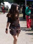 Tribal leather dress