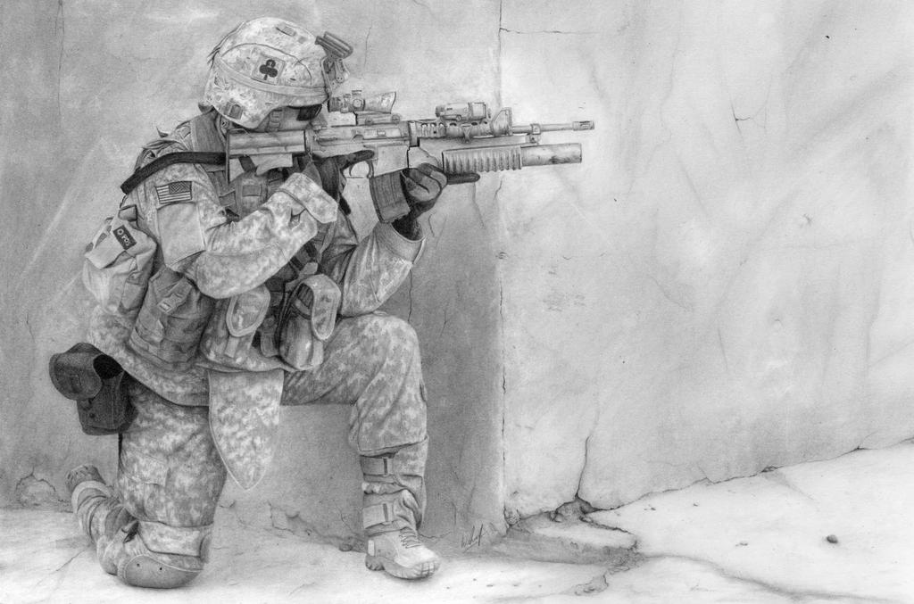 US Soldier by williamleafe