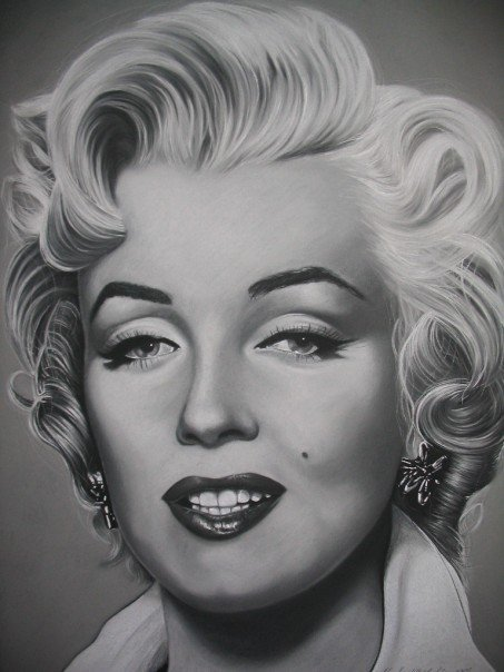 Charcoal Drawings Of P...