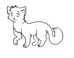 Cat Adoptable Lineart by MissAbbeline