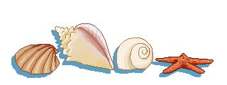 Seashell pixels by MissAbbeline