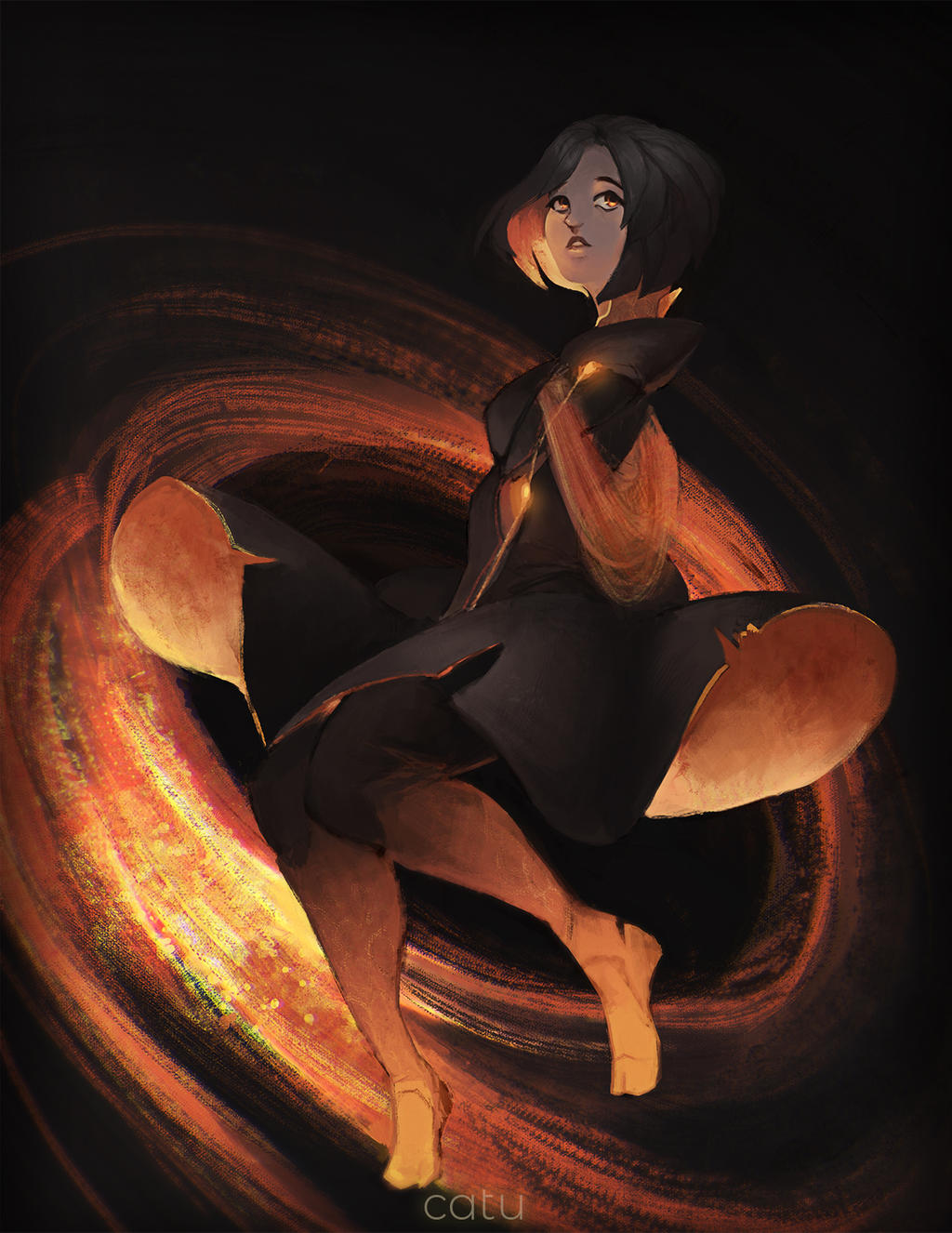 Black Hole Chan by catUranian on DeviantArt