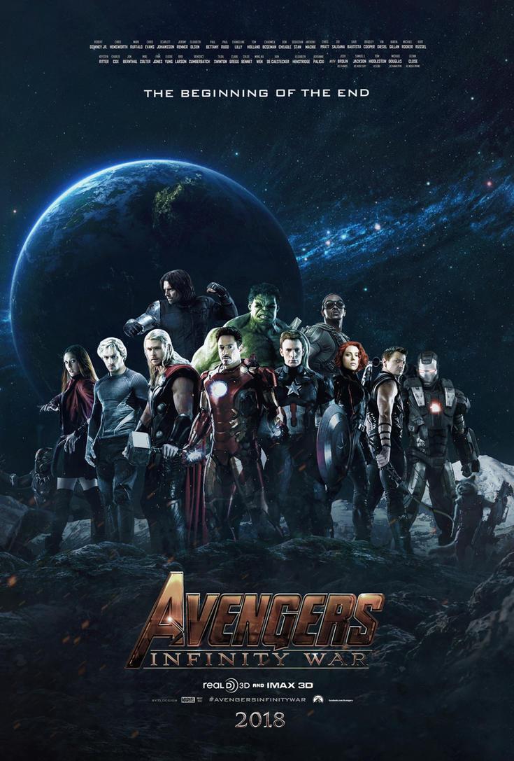 avengers infinity war poster fan made by tldesignn on